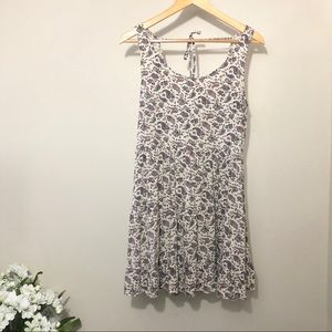H&M Summer Dress Floral Sleeveless Tie Back Size 8